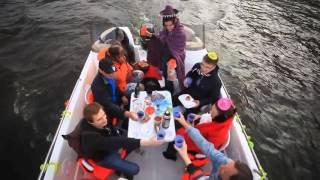 Катер на каналах Спб(Костюмированная вечеринка на катере с фуршетом на реках и каналах Петербурга., 2016-03-11T17:17:20.000Z)