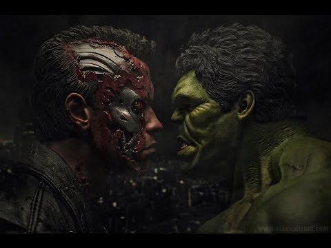 Free 3d Hulk Wallpaper Terminator Vs The Incredible Hulk Teaser Trailer Youtube