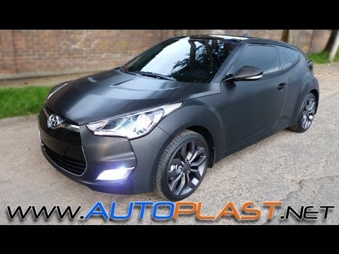 AutoPlast BodyWorX Hyundai Veloster Forrado completo 3M 1080 Black Brushed Metalic
