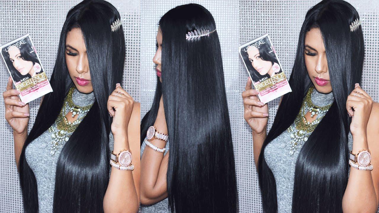 Pelo Largo Color Negro Peinados Novias