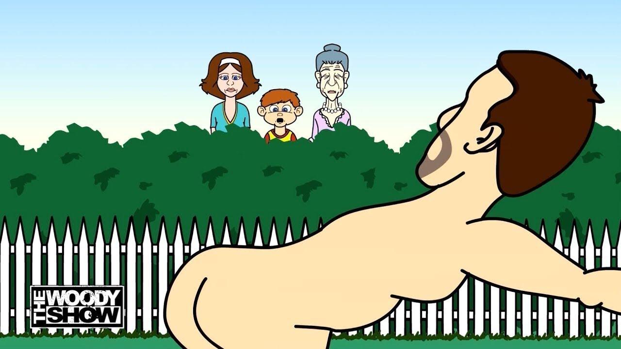 Nude female cartoon characters