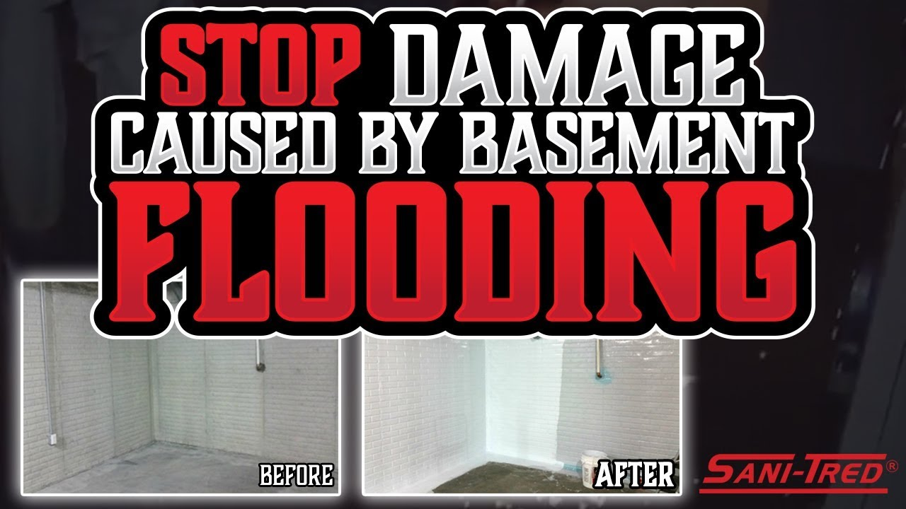 Sani Tred Basement Waterproofing Reviews Part - 44: Stop Damage Caused By Basement Flooding. Sani-Tred