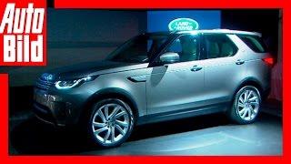 Sitzprobe im Land Rover Discovery (2017)