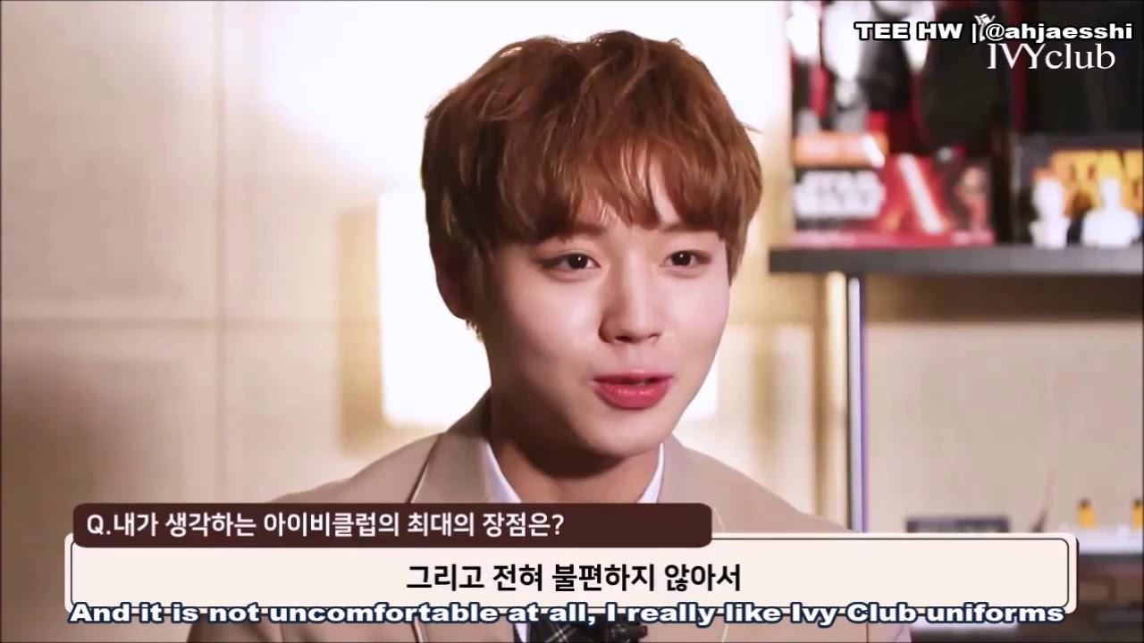 Eng Wanna One Park Jihoon Ivy Club Interview Youtube