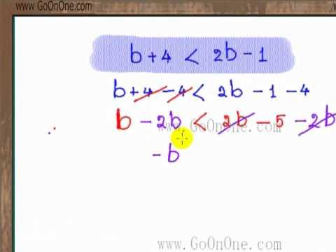 อสมการ เชิงเส้นตัวแปรเดียว EX2