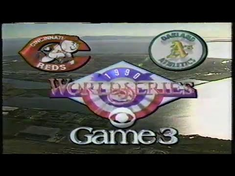1990 World Series Game #3: Reds at A