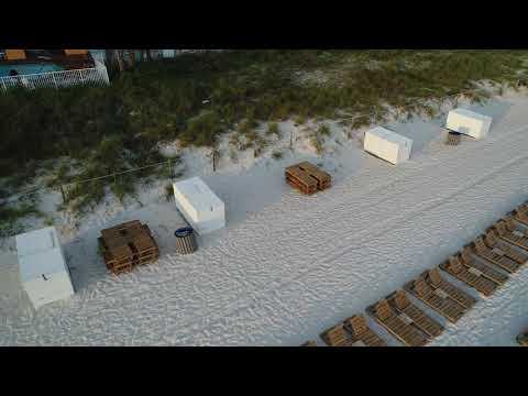Panama City Beach Drone shots on the beach 6