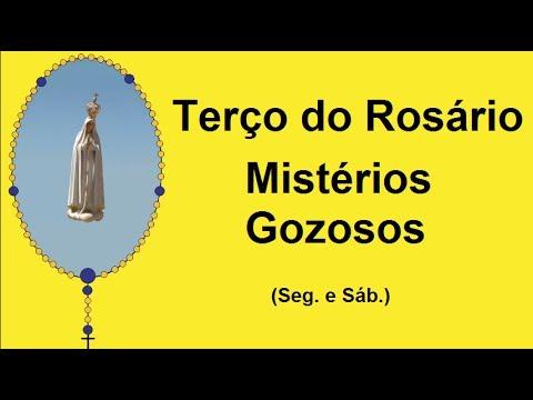 Terço do Rosário - Mistérios Gozosos - Nossa Senhora de Fátima (Seg. e Sáb.)