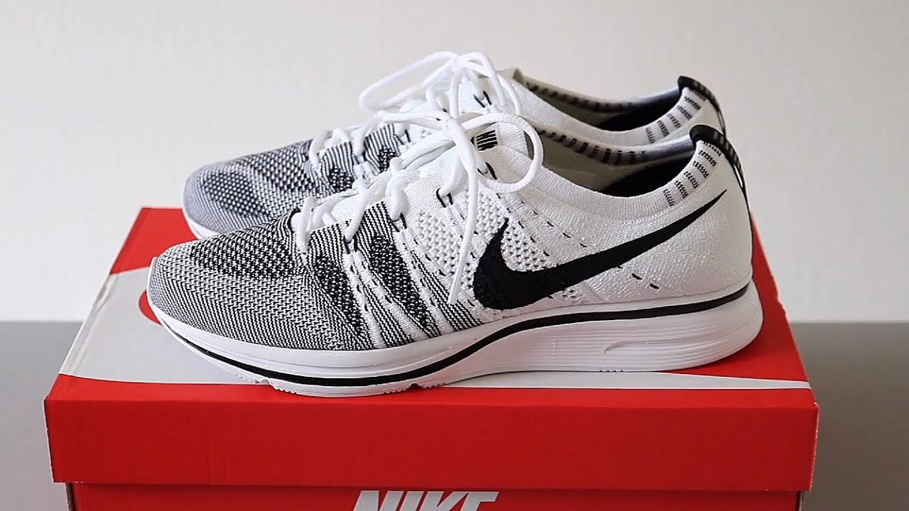 55564a83f8f9d ... Review NIKE FLYKNIT TRAINER BLACKWHITE + ON FEET ...
