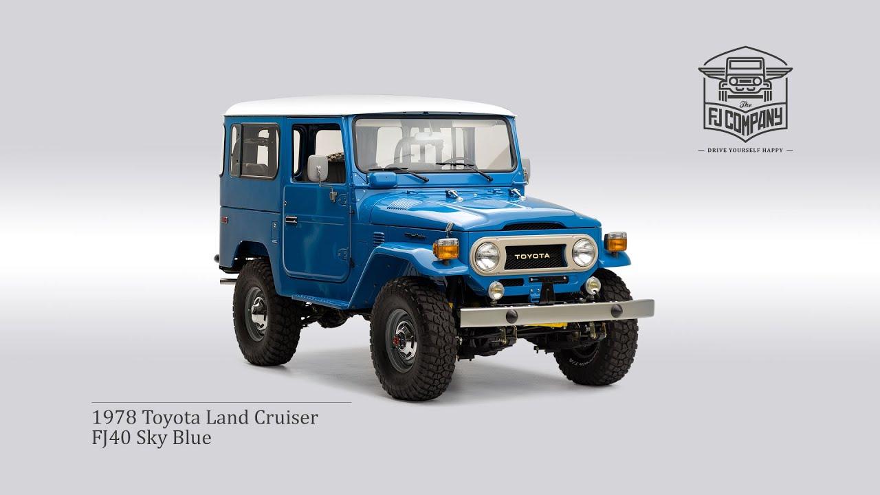 1978 Toyota Land Cruiser FJ40 Sky Blue Restoration Process