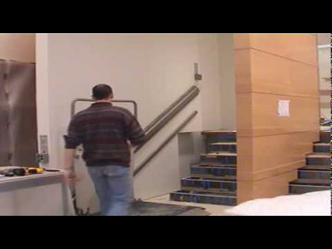 Garaventa express 2 hidden wheechair lift youtube for Www garaventalift com