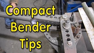 Making Tube Clamps - Compact Bender Tips
