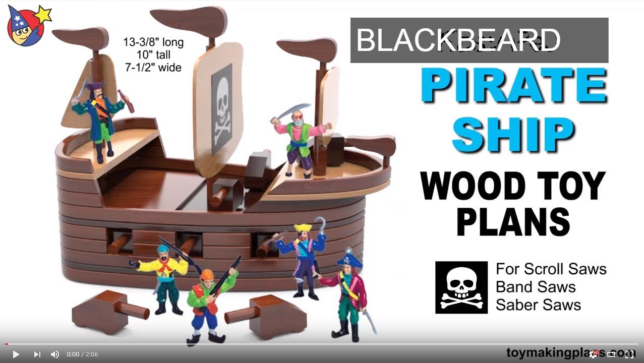 wood toy plans blackbeard pirate ship