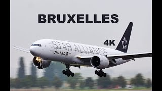 Plane Spotting at Brussels Airport BRU, Ladings - 4K