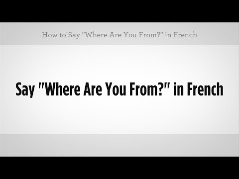 How do u say i am from africa in french