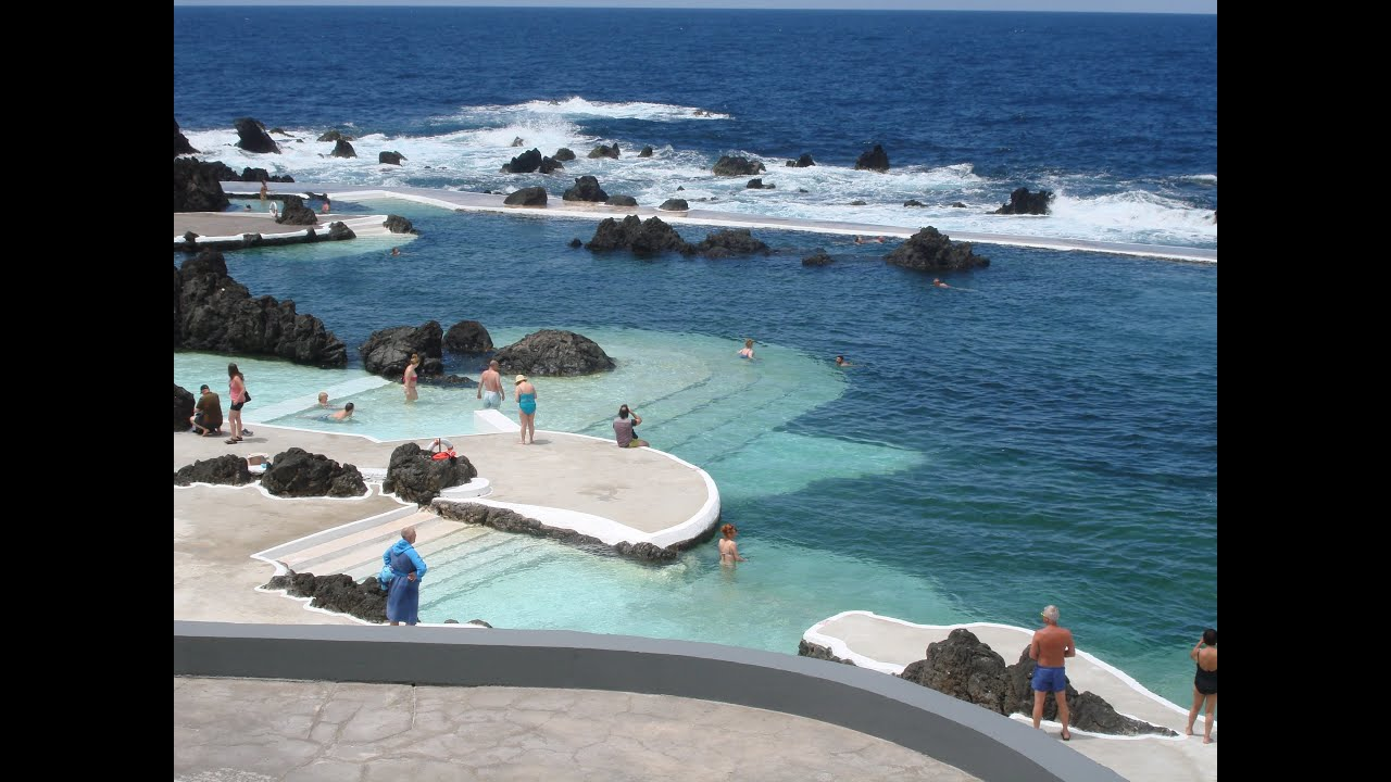porto moniz natural pools madeira island portugal youtube