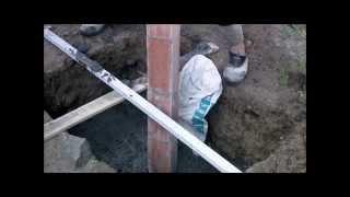 Replanteo excavación cimiento, relleno y colocación dintel video nº 164