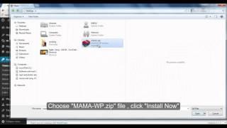 MAMA WordPress Theme Installation