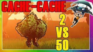 FORTNITE   2 VS 50 : CACHE CACHE FUN   Battle Royale