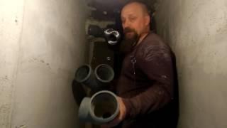 видео Вентиляция из канализационных труб в частном доме своими руками