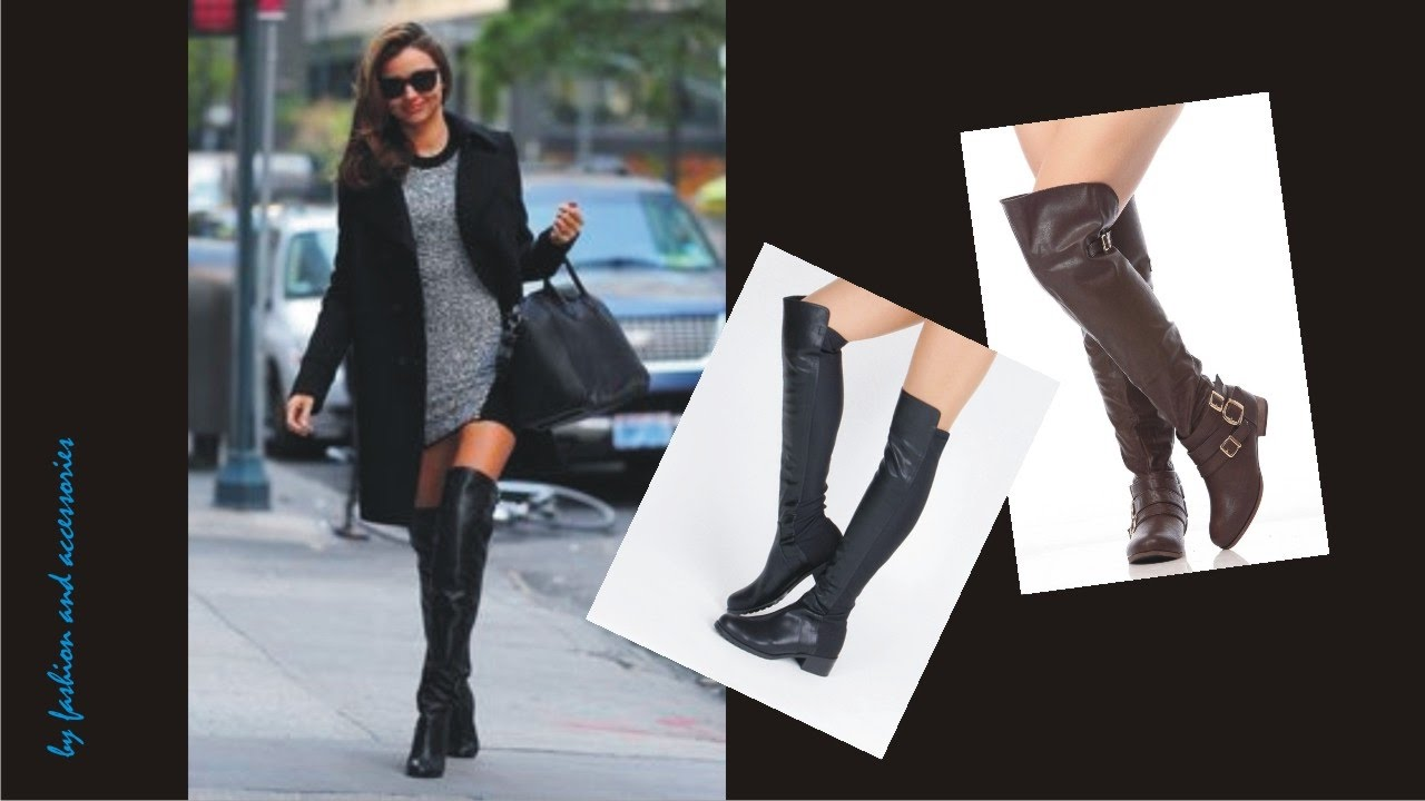 Womens Leather Over The Knee Boots