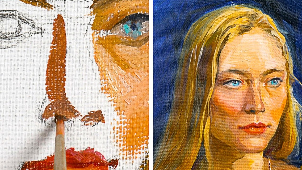 Realistic Portrait With Oil Paint 8 Painting And Drawing Ideas Youtube