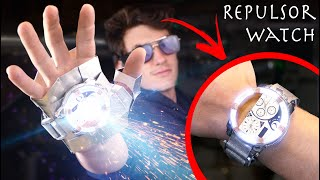 Working Expandable Iron Man Watch Glove Repulsor! (From Captain America Civil War)