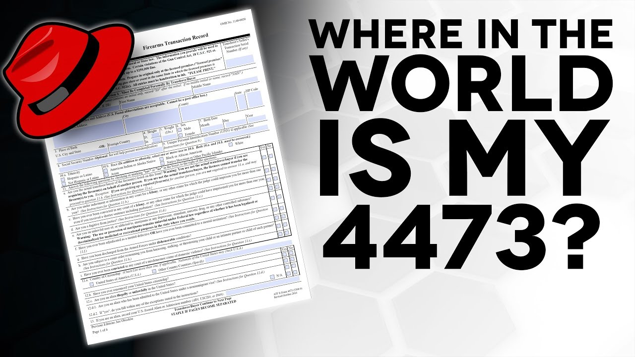 form 4473 mistakes  Where do my Background Check Forms go? - The Legal Brief