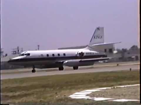 Los Angeles Kings 1967 Lockheed JetStar 731 Departing VNY