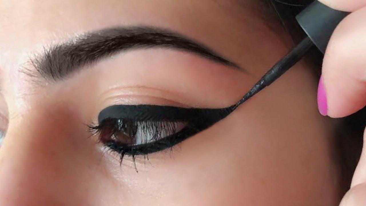 Wing Eyeliner लगाने का सही तरीका - How To Apply Perfect Winged Eyeliner for Beginners | Anaysa #1