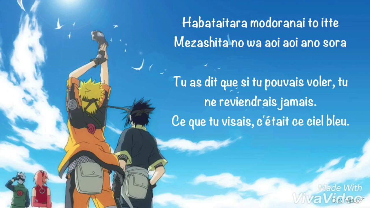 Blue Bird Naruto Shippuden Opening 3 Lyrics Japanese French Short Ver Cover By Dragonstar