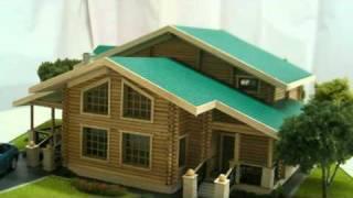 Макет деревянного дома. Макетная мастерская