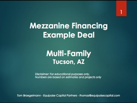 Mezzanine Financing Structure - Multifamily Project