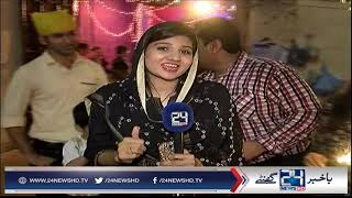 Pakistani Hindus celebrating Diwali festival in Karachi