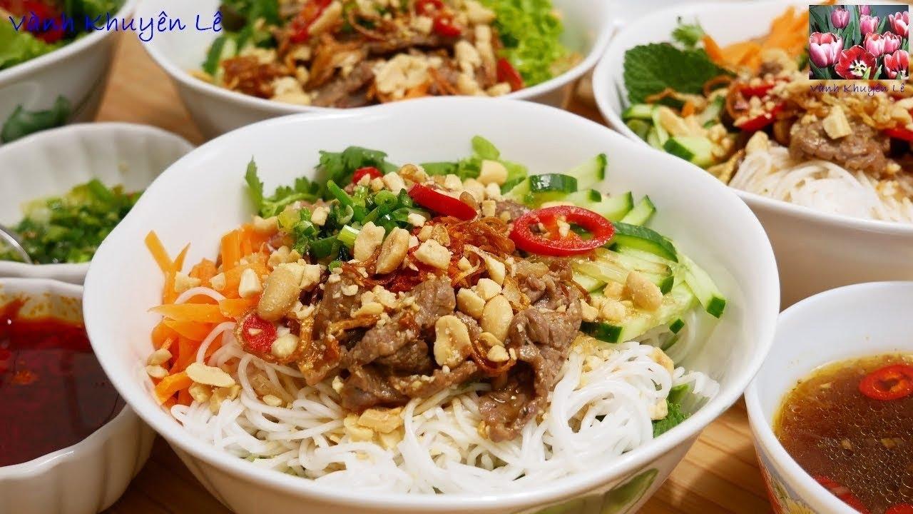 BÚN BÒ XÀO – Cách làm Bún Thịt Bò Xào nước Mắm Me – Bún Bò Nam Bộ by Vanh Khuyen