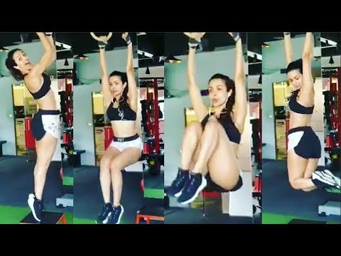 Malaika Arora Khan Hot GYM Workout Videos 2018