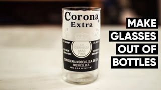 How to make Corona beer bottles into glasses every time! NO FIRE(LINK TO BOTTLE CUTTER - http://tinyurl.com/pk2xwfr MORE TIPS AT MY BLOG POSTS HERE - http://jonnykeeley.com/beer-bottles-drinking-glasses/ If you ..., 2014-03-03T23:44:48.000Z)