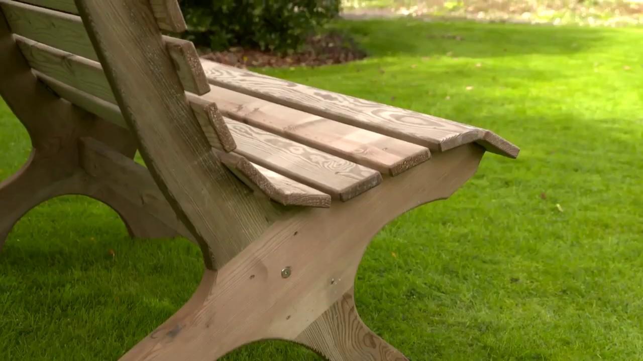 Zest 4 Leisure Harriet Wooden Garden Park Bench Seat Youtube