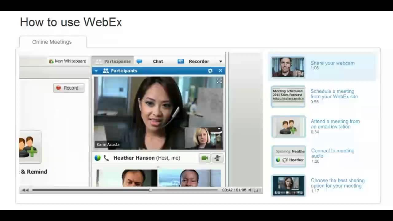 Como usar WebEx