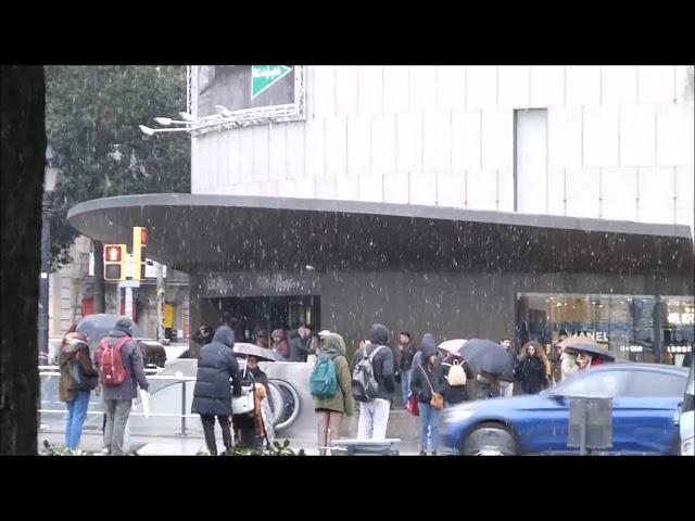 Nevant a Barcelona - Febrer 2018