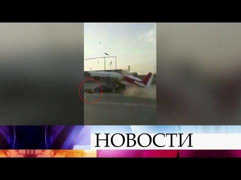 ВЧечне произошло ДТП сучастием автомобиля исамолета.