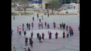 Tibetan folk dance in Shangri-La, China (with a side of football)