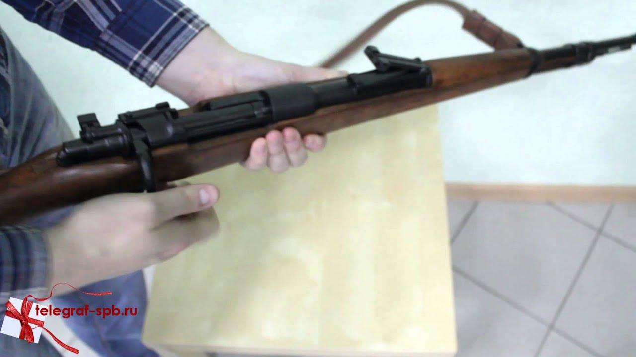 Снайперская винтовка Мосина (Трехлинейка) с коробки стреляет в .