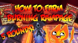 Wizard101: HOW TO FARM BURNING RAMPAGE! 5 ROUND KILL!