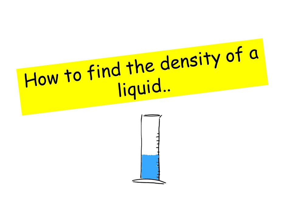 how to find the density of something
