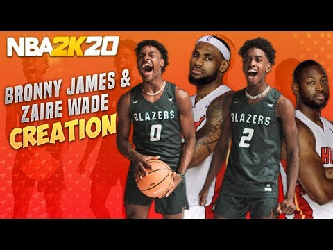 THE OFFICIAL BRONNY JAMES AND ZAIRE WADE FACE CREATION 19.5 NBA 2K20