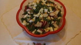Простой салат с редиской и яйцом за 5 минутA simple salad with radish and eggs for 5 minutes