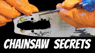 CHAINSAW SECRETS - The Pros Won't Tell You About