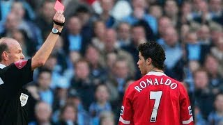 FOOTBALL SUPERSTARS RECEIVE THEIR FIRST RED CARDS