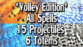 Path of Exile 3.1: Volley Edition - All Projectile Spells /w 6 Totems & 15 Projectiles + MTX